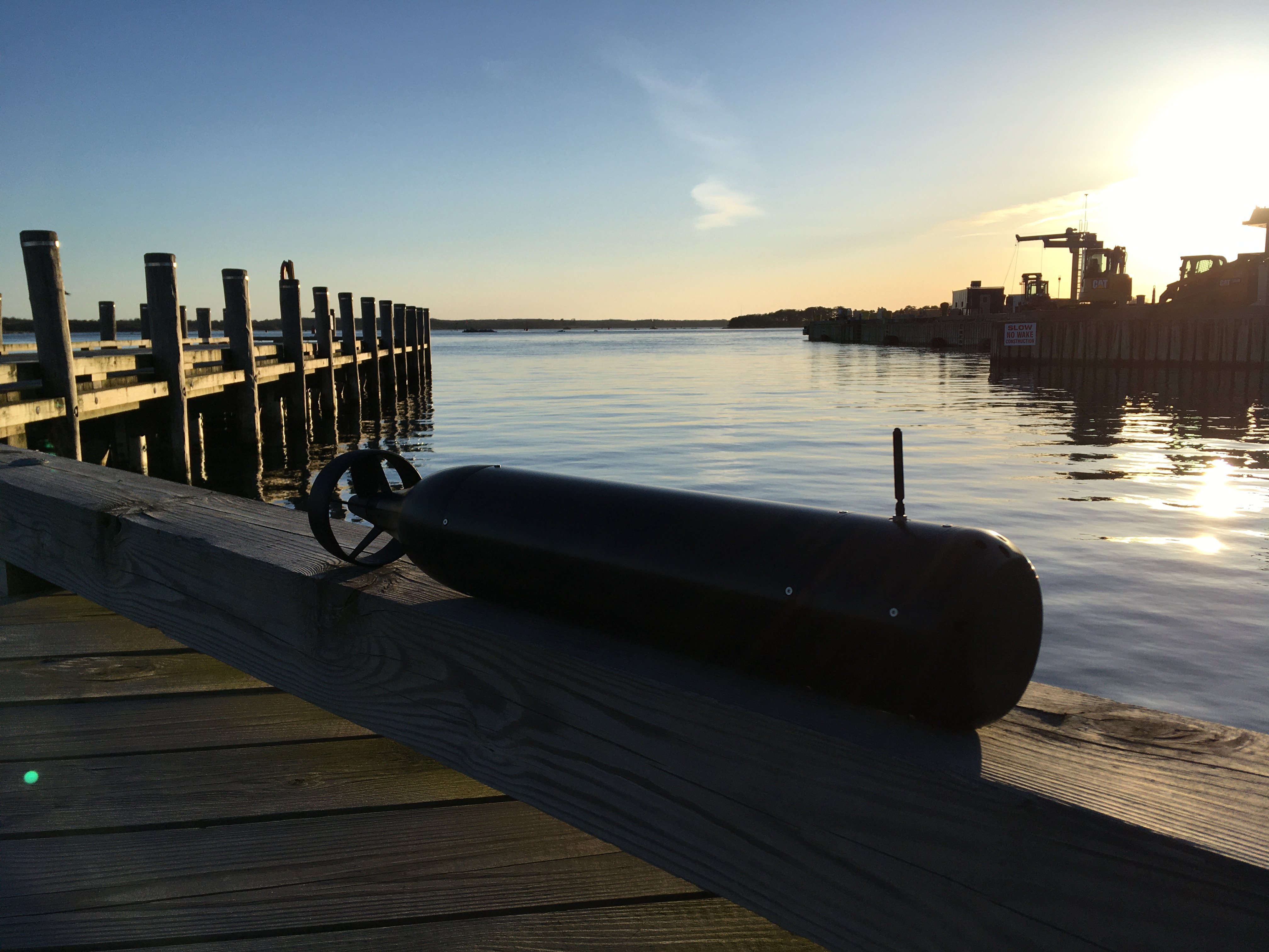 Thruster mounted on a test hull to support the development of vision-based navigation and station keeping (courtesy of ARAMADA Marine Robotics, Inc.)